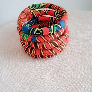 5 Sets Ankara Fashion Bracelets